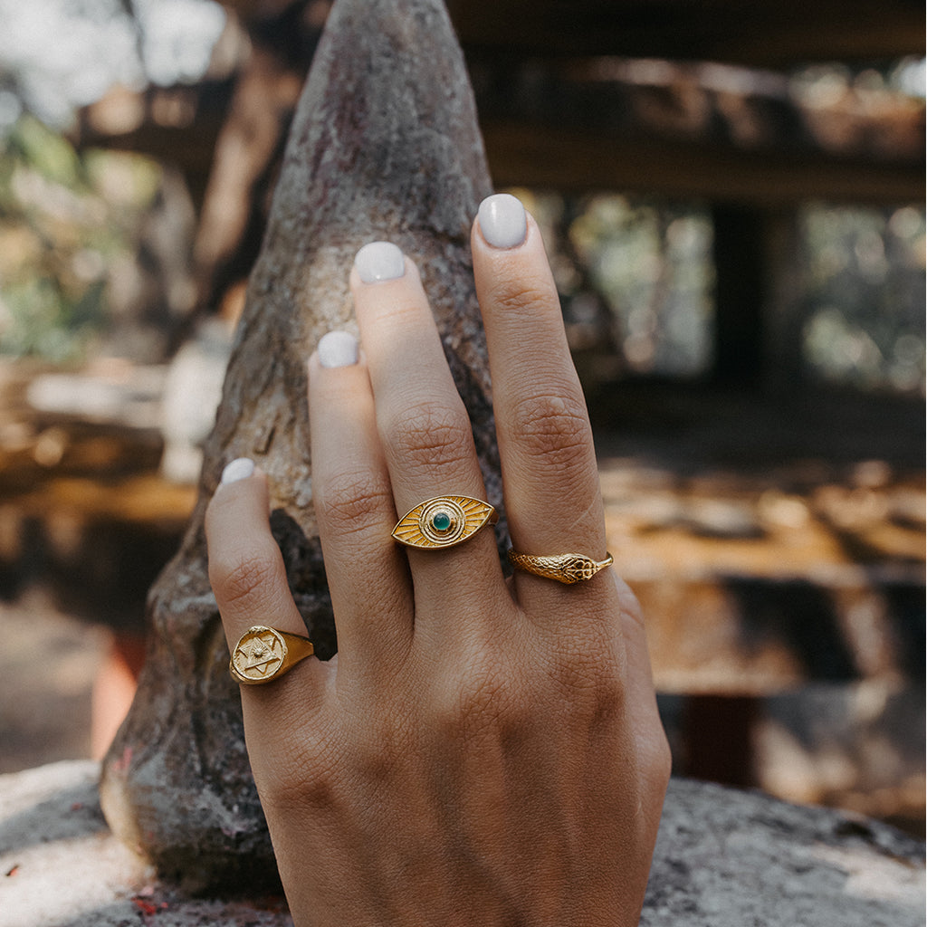 The Ouroboros Signet Ring Gold