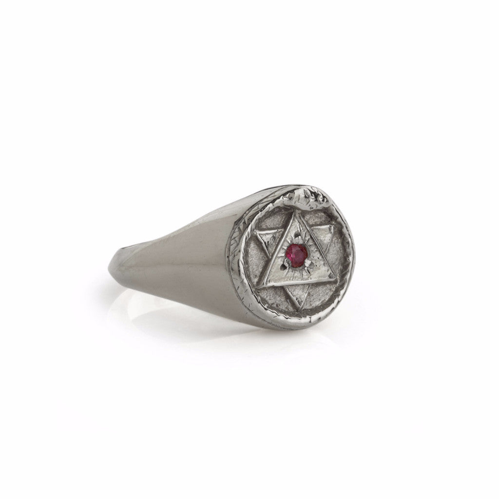 The Ouroboros Signet Ring Silver