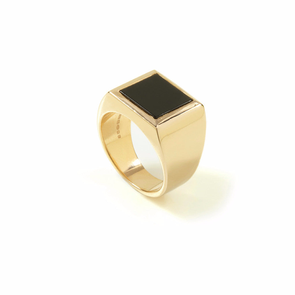 Plato Onyx/Lapis Ring Gold