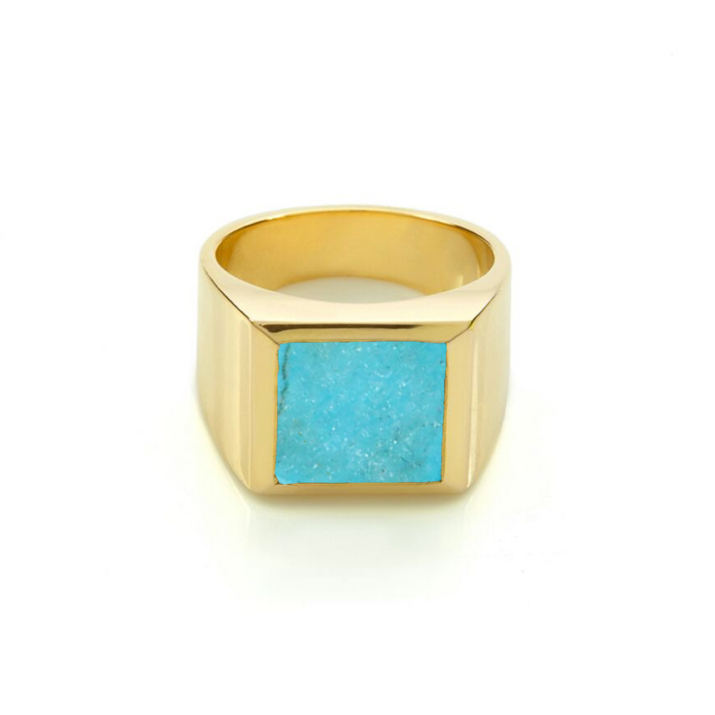 Plato Turquoise Ring Gold