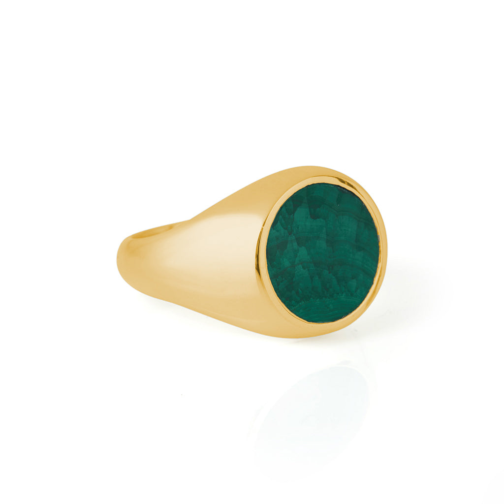 Reflection Ring Gold / Malachite