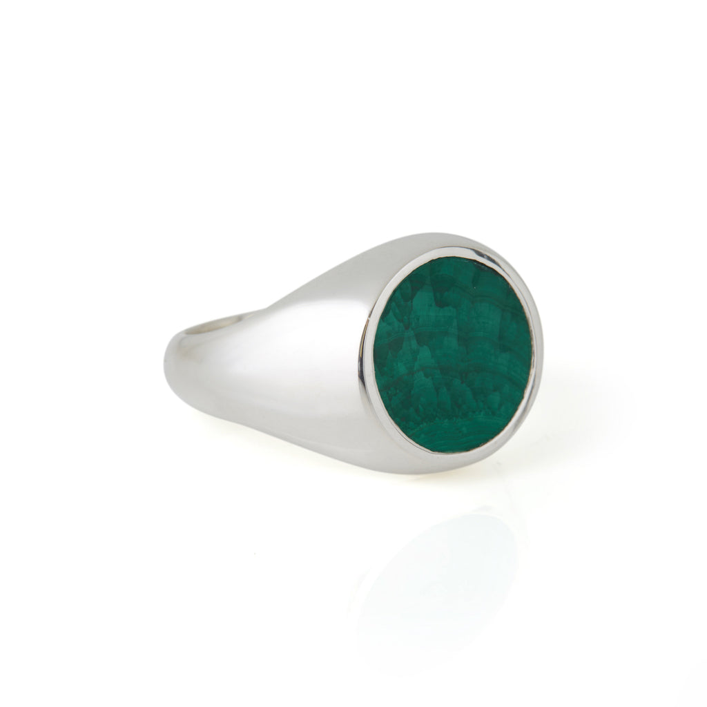Reflection Ring Silver / Malachite