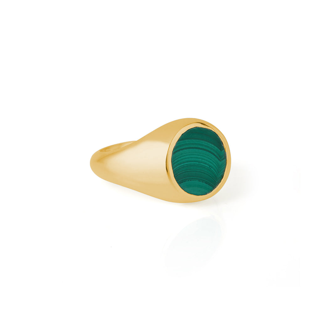 Reflection Mini Ring Gold / Malachite