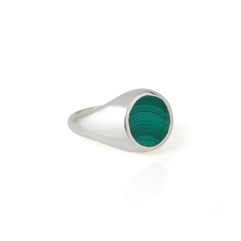 Reflection Mini Ring Silver / Malachite
