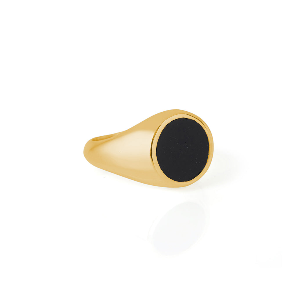 Reflection Mini Ring Gold / Black Onyx