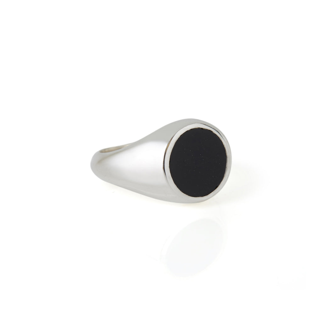 Reflection Mini Ring Silver / Black Onyx
