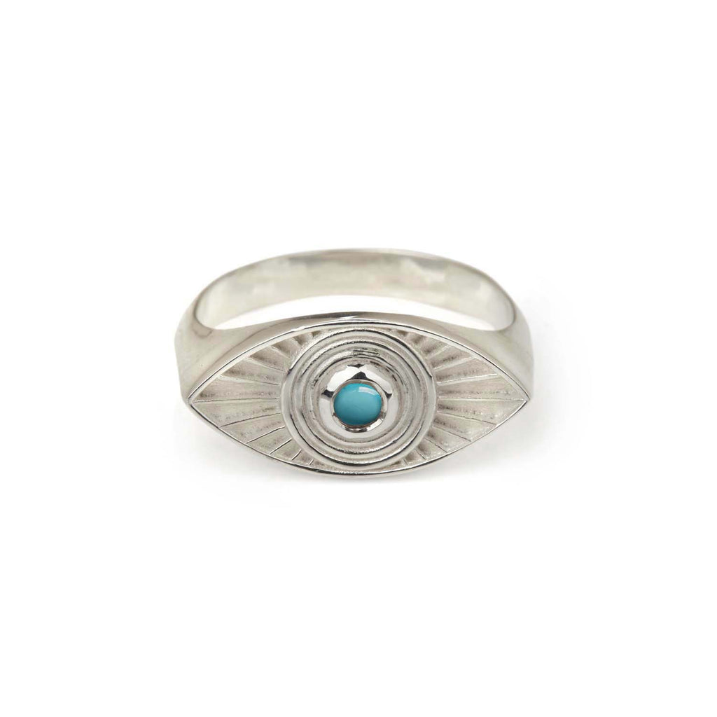 Rays Of Light Ring - Turquoise