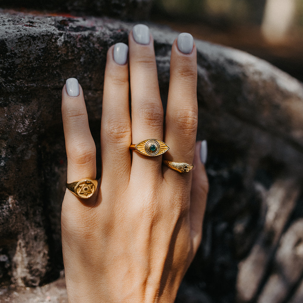 Ouroboros Snake Ring Limited Edition with Emeralds