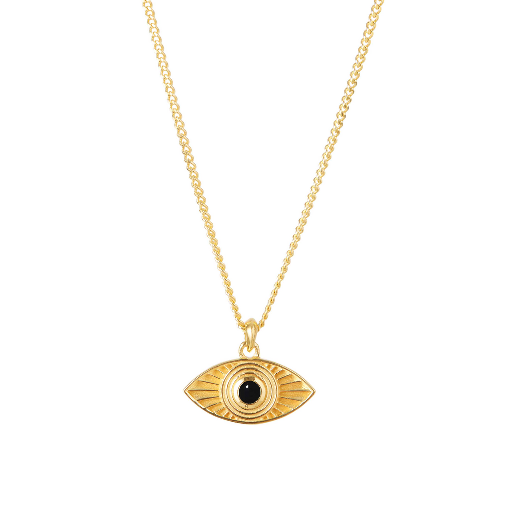 Rays of Light Pendant Gold - Black Onyx