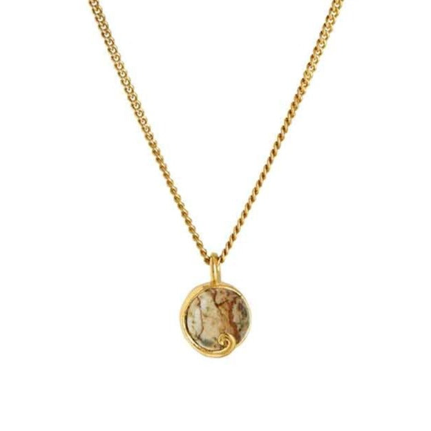 Atlantis Jasper Mini Necklace Gold