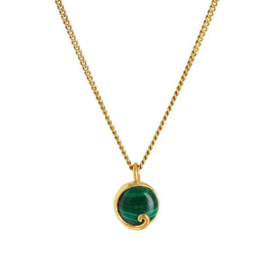 Atlantis Malachite Mini Necklace Gold