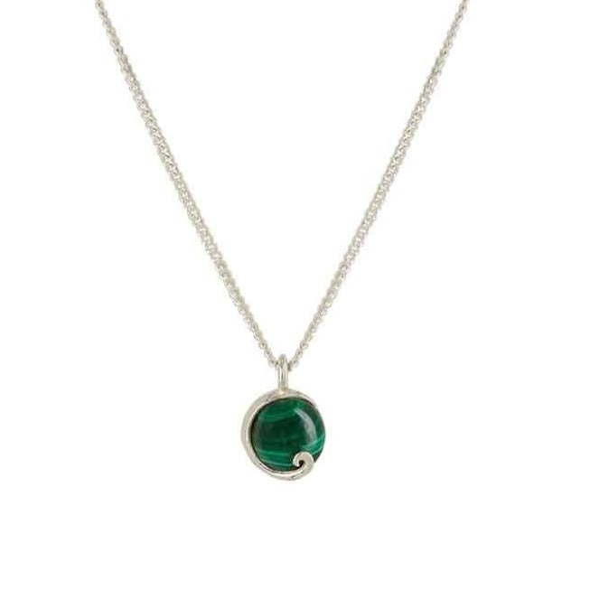 Atlantis Malachite Mini Necklace Silver