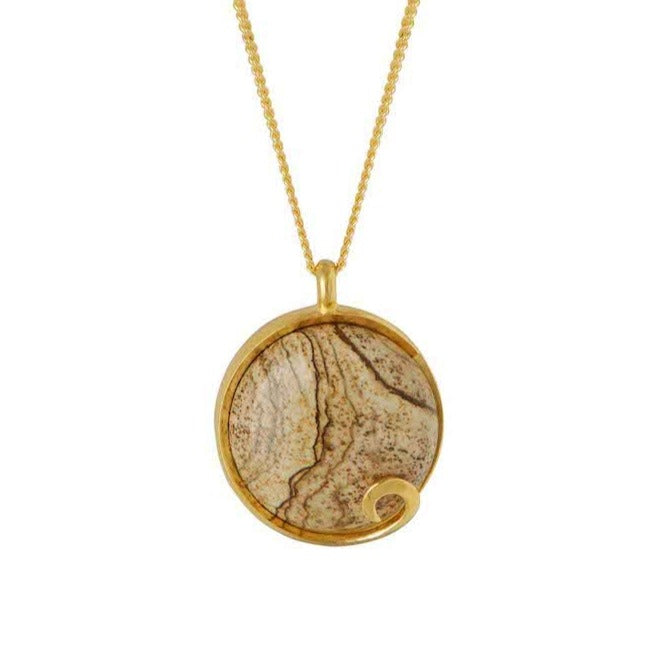 Atlantis Jasper Necklace Gold