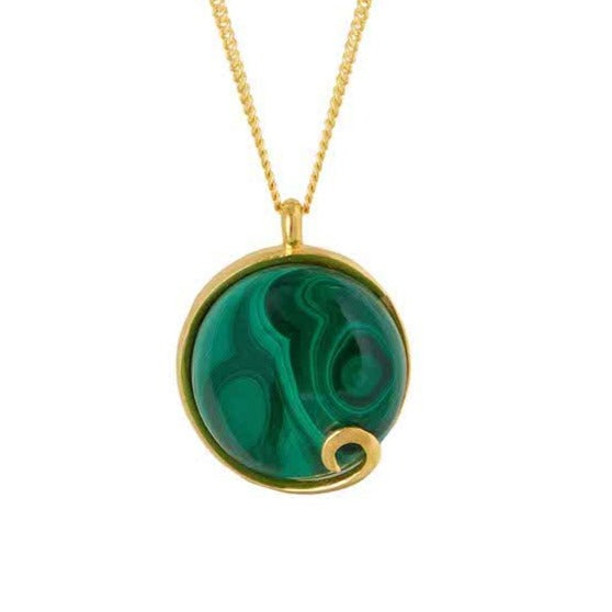 Atlantis Malachite Necklace Gold