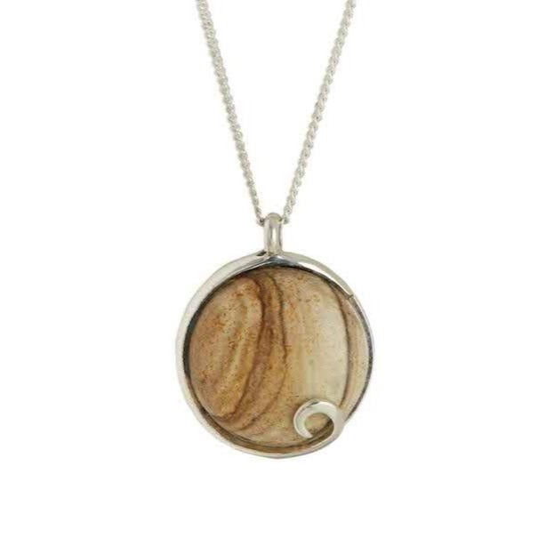 Atlantis Jasper Necklace Silver
