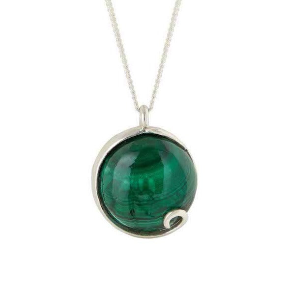 Atlantis Malachite Necklace Silver