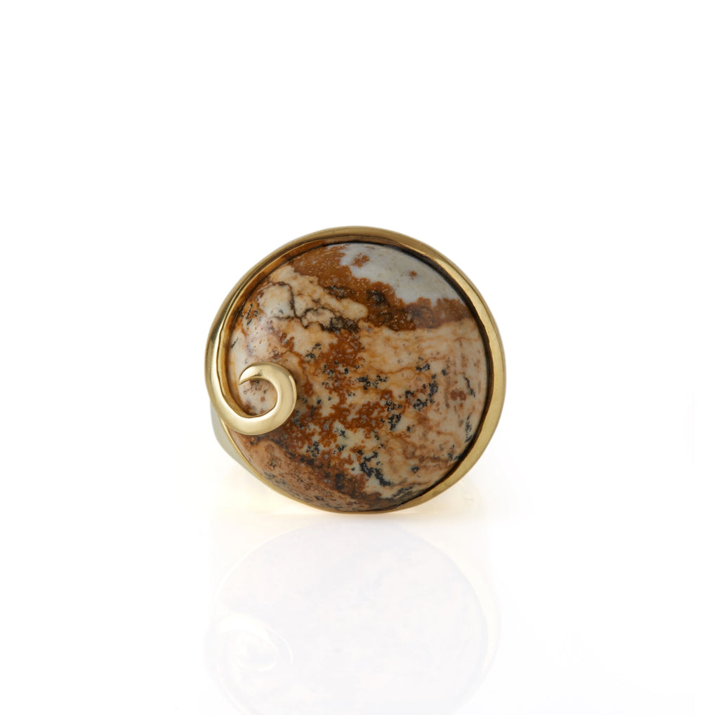 Atlantis Jasper Ring Gold