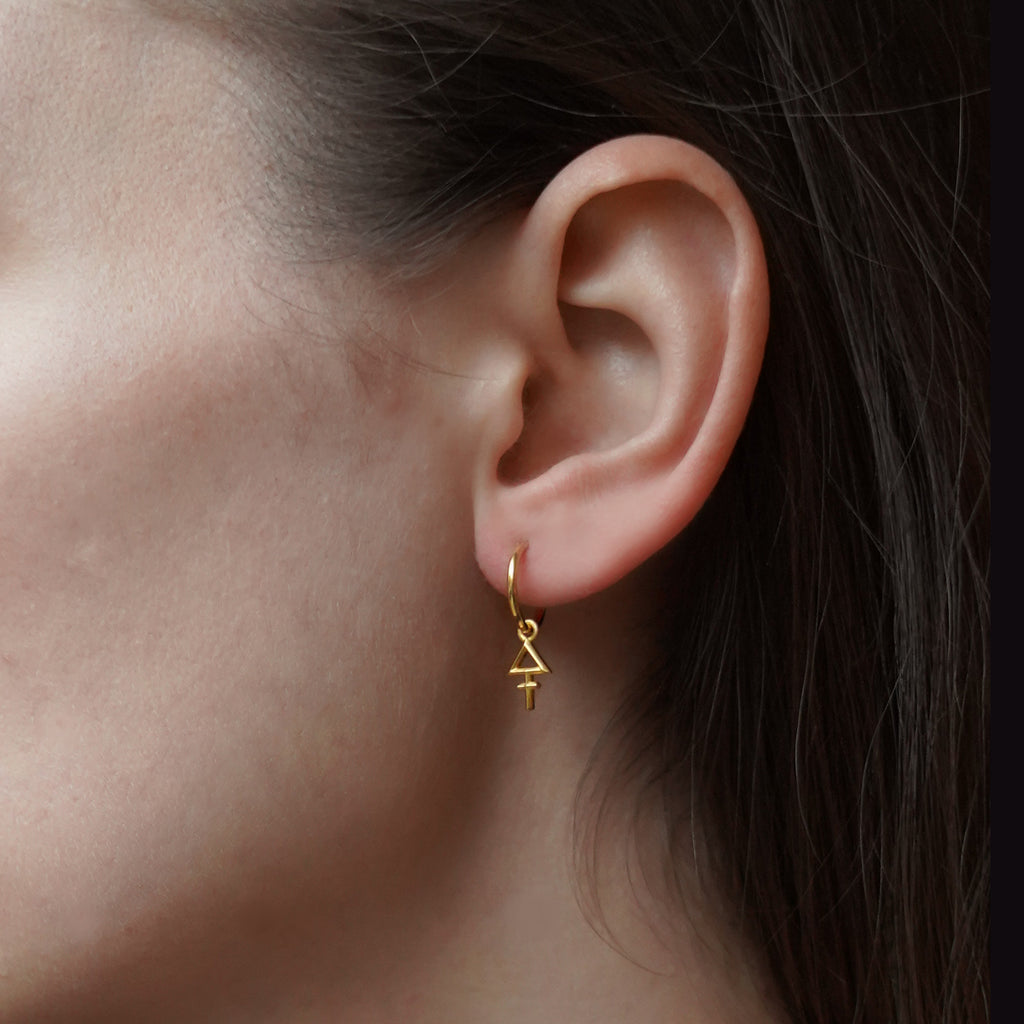 Tria Prima Hoop Earrings Gold