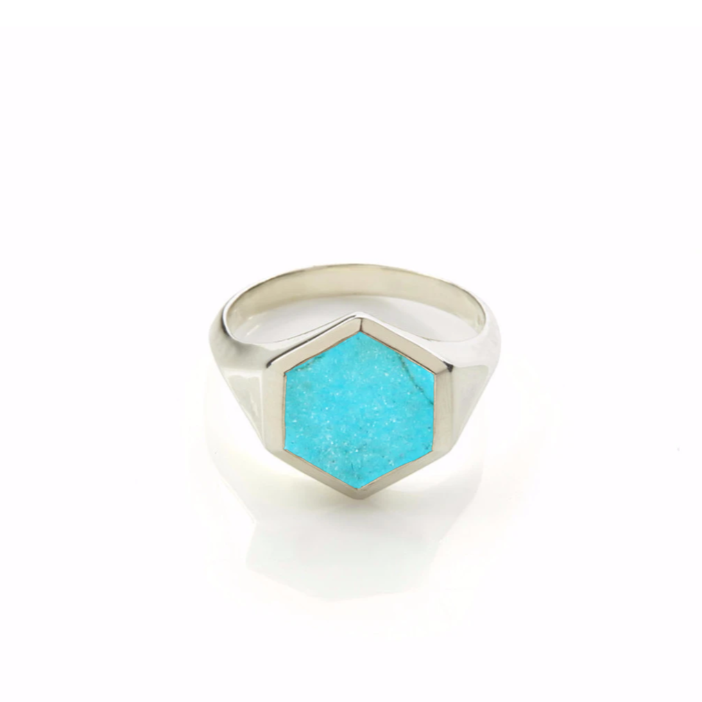 Varro Turquoise Ring Silver