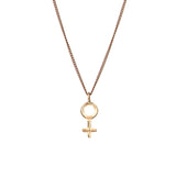 Seven Planetary Metals - Venus and Mars Pendant - Gold