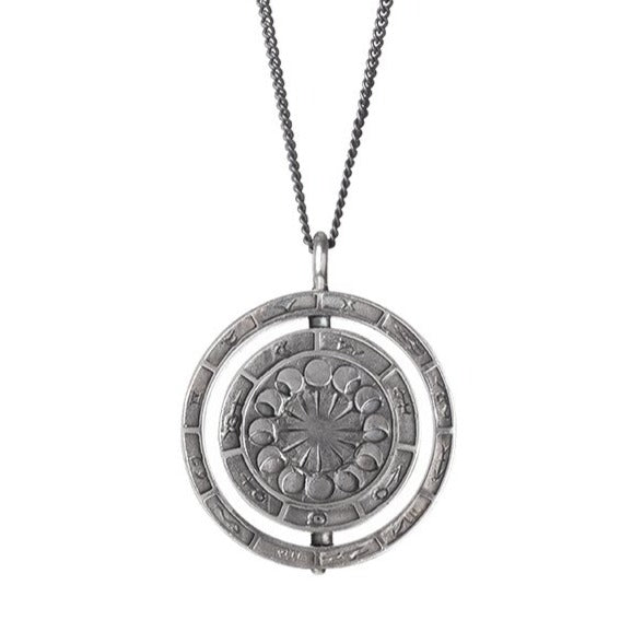 Alchemist's Rotary Pendant Silver