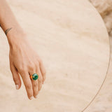 Atlantis Malachite Ring Gold
