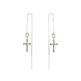 Cross Thread Chain Earrings