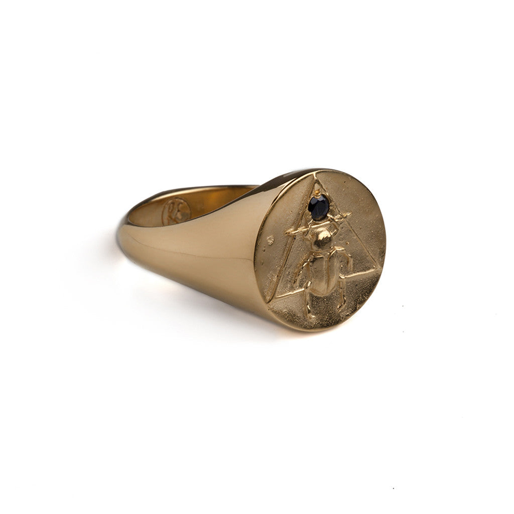 The Scarab Signet Ring Gold