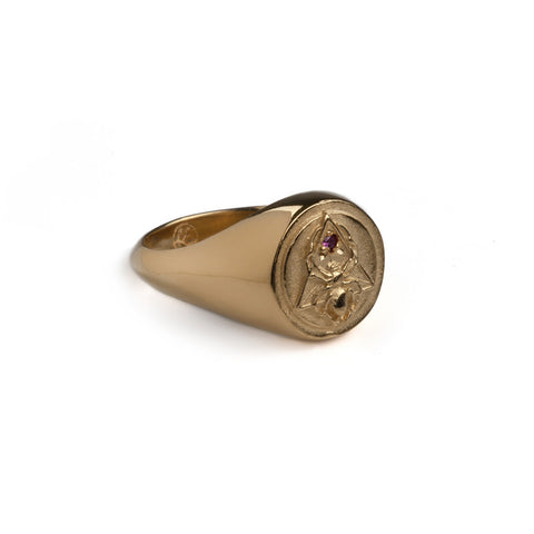 The Creation Signet Ring Gold