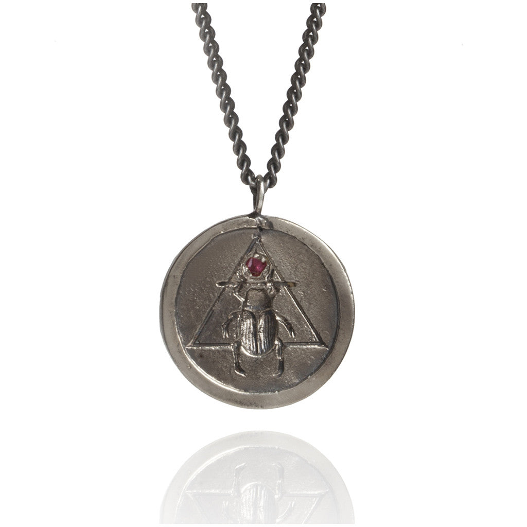 The Scarab Coin Pendant Silver