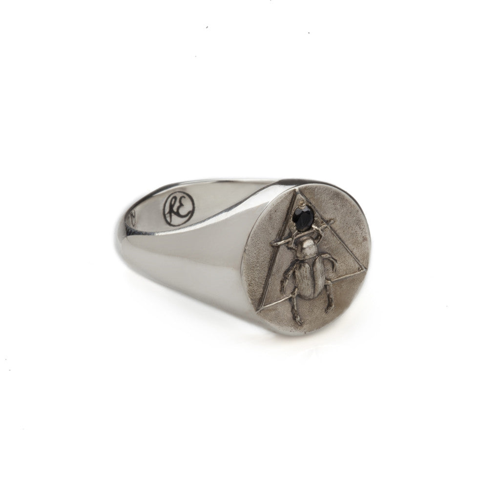 The Scarab Signet Ring Silver Man