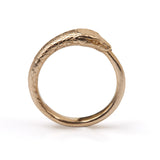 Ouroboros Large Snake Ring Bronze