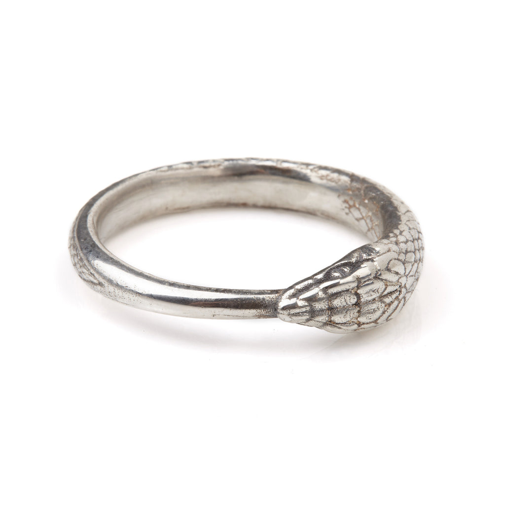 Ouroboros Snake Ring Silver Large