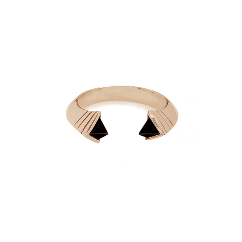 Tetra Onyx Ring Rose Gold