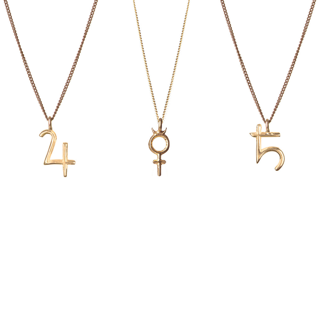 Seven Planetary Metals - Mercury, Saturn and Jupiter Pendant