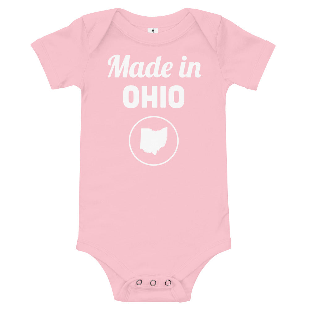 Made in Ohio Baby Onesie Pink