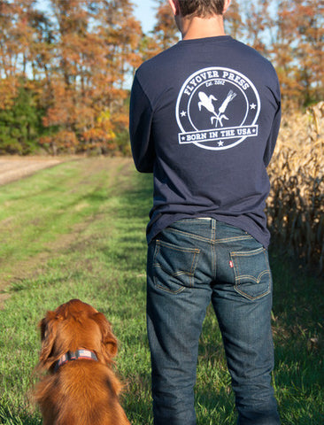 Men's Born In The USA Long Sleeve - Navy
