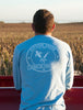 Men's Born In The USA Long Sleeve - Sky Blue