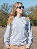 Women's Born In The USA Long Sleeve - Gray