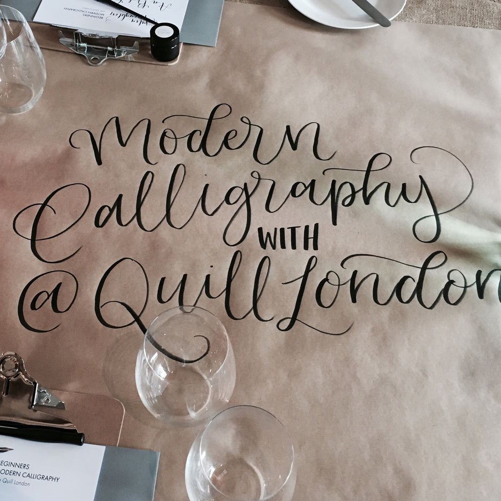 The day I tried my hand at Modern Calligraphy