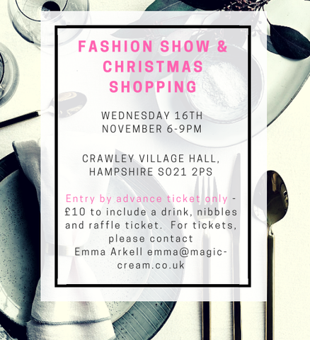 Fashion Show and Christmas Shopping event at Crawley Village Hall, Hampshire