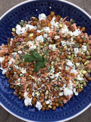 Gee Cartwright Carrot Salad with Toasted Spiced Chickpeas and Tahini Dressing