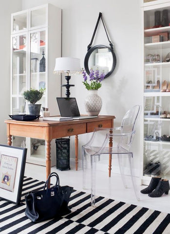 Home Office with Rug