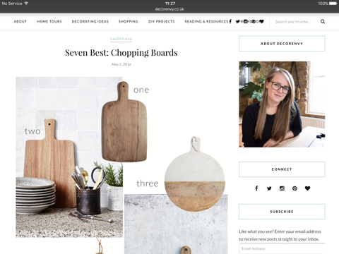Decorenvy Blog 7 Best Chopping Boards featuring Andrassy Living