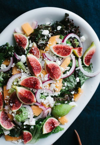 Fig and Melon Salad with creamy lemon vinaigrette from ....Etc