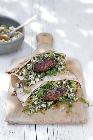 Lamb Burgers with Mint & Feta Pesto by Williams Sonoma