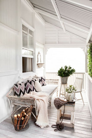 Veranda with outdoor seating