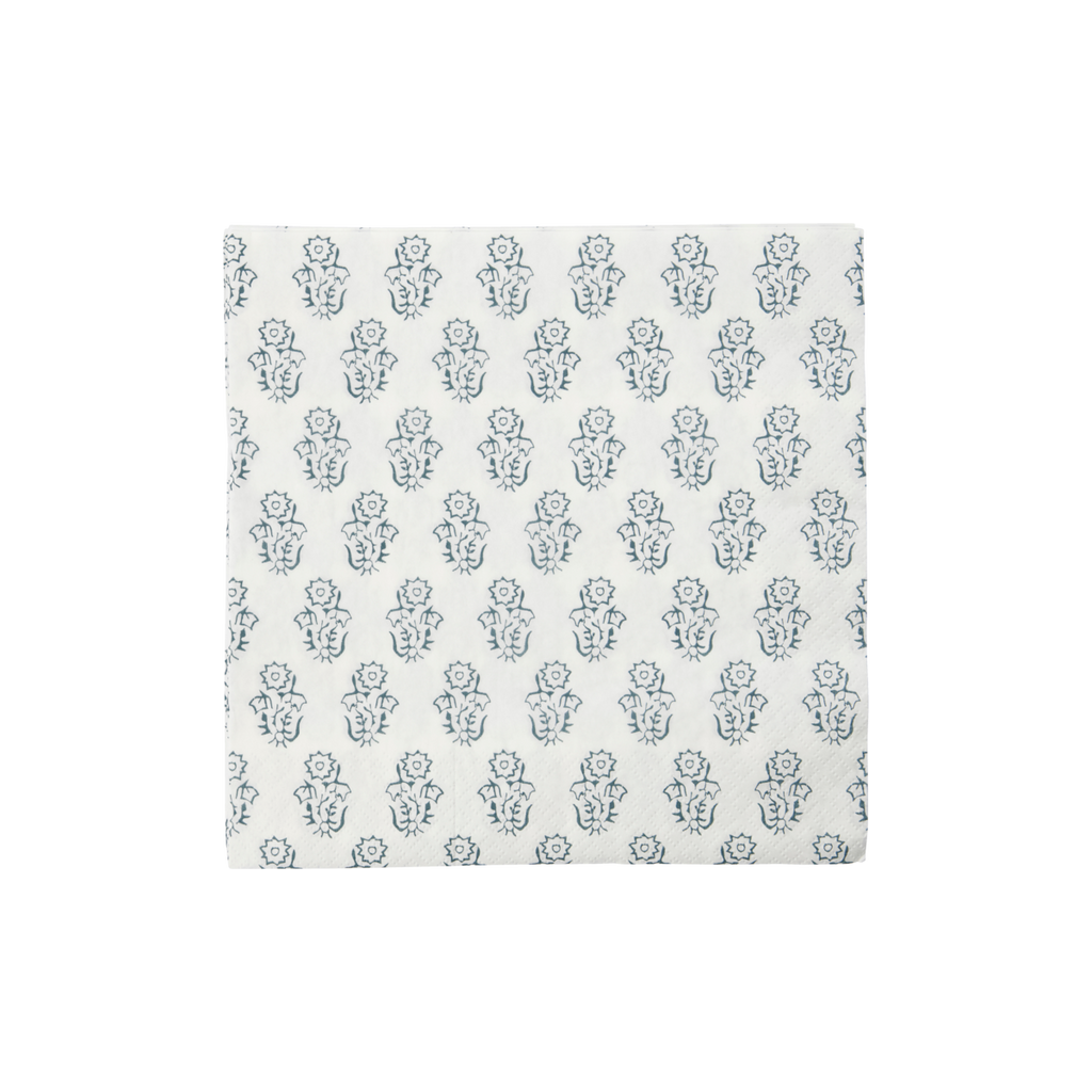 Grey Flower Paper Napkins