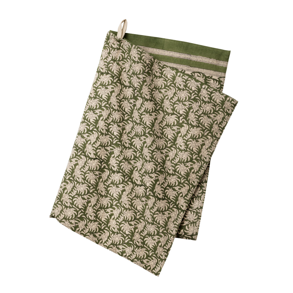 Green Nisha Fern Kitchen Towel by Bungalow