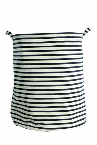 Black & White Stripe Laundry Bag